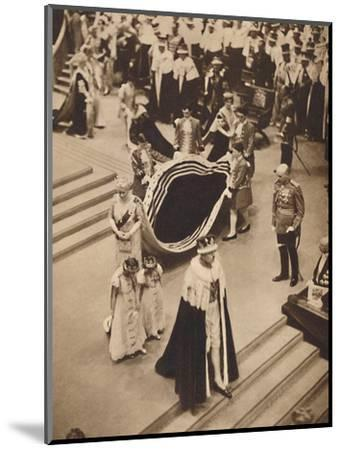 'Queen Mary Leaves', May 12 1937-Unknown-Mounted Photographic Print