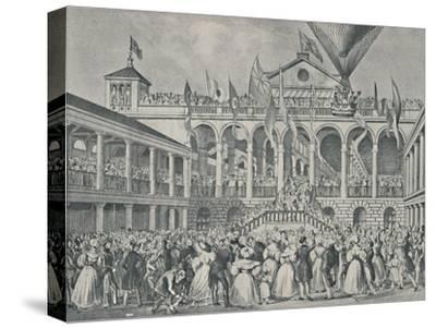 'Opening of New Hungerford Market, July 2nd, 1833', (1920)-Unknown-Stretched Canvas Print