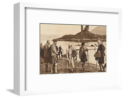 'Over the Sea to Skye' - landing in Skye from the yacht 'Golden Hind', 1933 (1937)-Unknown-Framed Photographic Print