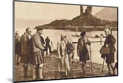 'Over the Sea to Skye' - landing in Skye from the yacht 'Golden Hind', 1933 (1937)-Unknown-Mounted Photographic Print
