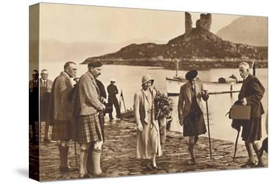 'Over the Sea to Skye' - landing in Skye from the yacht 'Golden Hind', 1933 (1937)-Unknown-Stretched Canvas Print