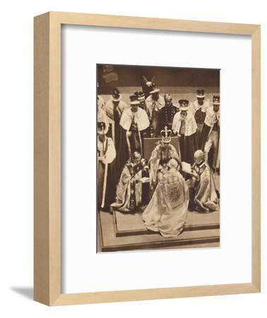 'Primate Kneels at the King's Knees', May 12 1937-Unknown-Framed Photographic Print