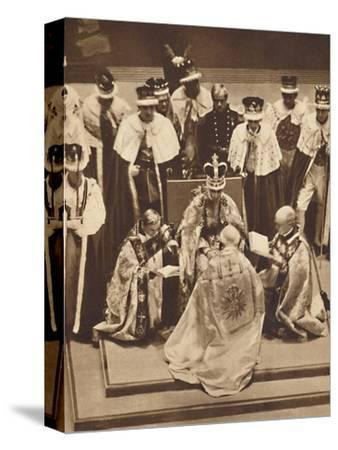 'Primate Kneels at the King's Knees', May 12 1937-Unknown-Stretched Canvas Print