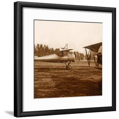 A plane taking off, c1914-c1918-Unknown-Framed Photographic Print