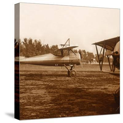 A plane taking off, c1914-c1918-Unknown-Stretched Canvas Print