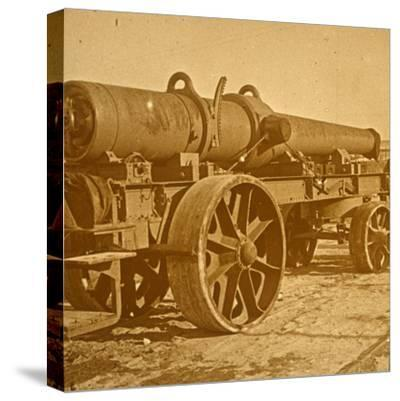 Heavy artillery, 1917 Offensive-Unknown-Stretched Canvas Print