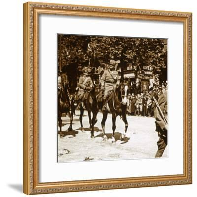 Italian officers during victory parade, 1918-Unknown-Framed Photographic Print
