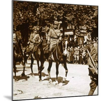 Italian officers during victory parade, 1918-Unknown-Mounted Photographic Print