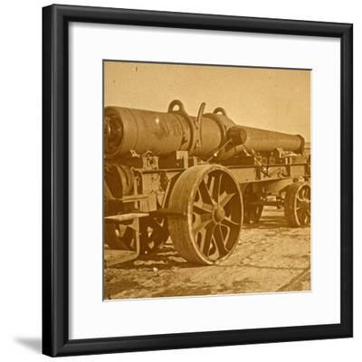 Heavy artillery, 1917 Offensive-Unknown-Framed Photographic Print