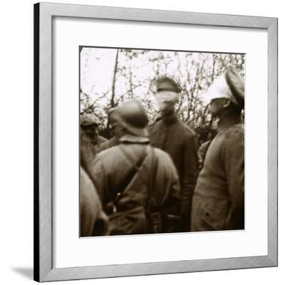 Blindfolded soldiers, November 1918-Unknown-Framed Photographic Print