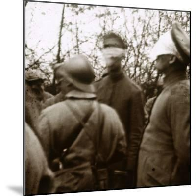Blindfolded soldiers, November 1918-Unknown-Mounted Photographic Print