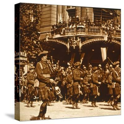 Scottish soldiers, 14 July 1919-Unknown-Stretched Canvas Print
