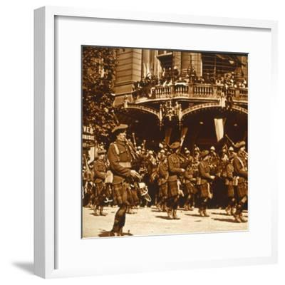 Scottish soldiers, 14 July 1919-Unknown-Framed Photographic Print