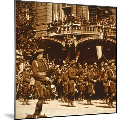 Scottish soldiers, 14 July 1919-Unknown-Mounted Photographic Print
