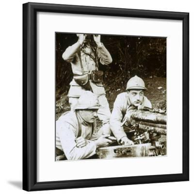 A 37mm gun, c1914-c1918-Unknown-Framed Photographic Print