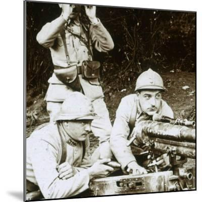 A 37mm gun, c1914-c1918-Unknown-Mounted Photographic Print