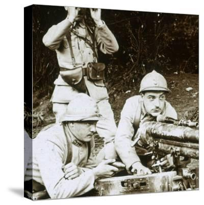 A 37mm gun, c1914-c1918-Unknown-Stretched Canvas Print