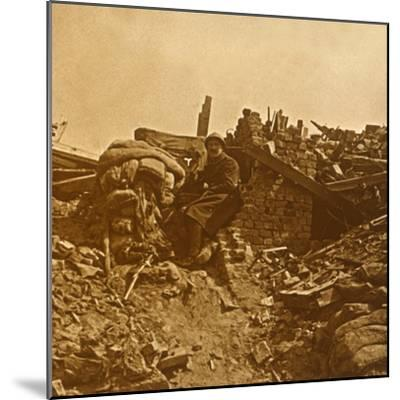 Look-out, c1914-c1918-Unknown-Mounted Photographic Print