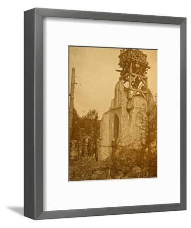 Damaged church, c1914-c1918-Unknown-Framed Photographic Print