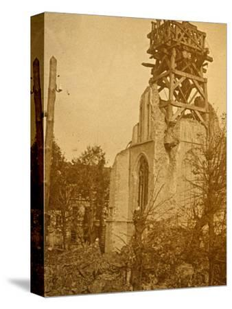 Damaged church, c1914-c1918-Unknown-Stretched Canvas Print