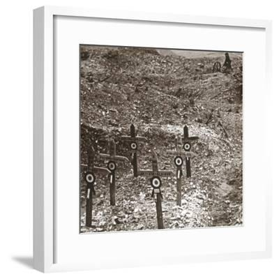 Destroyed battery, Fort Vaux, northern France, c1914-c1918-Unknown-Framed Photographic Print