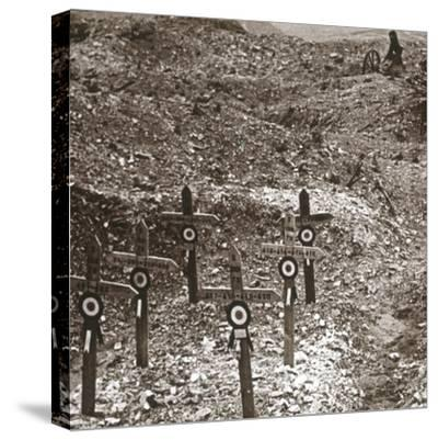 Destroyed battery, Fort Vaux, northern France, c1914-c1918-Unknown-Stretched Canvas Print