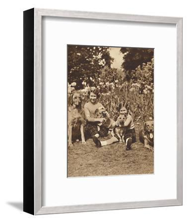 '-And Friends', Princesses Elizabeth and Mary at Royal Lodge, Windsor, c1936 (1937)-Unknown-Framed Photographic Print