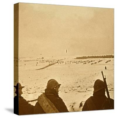 Assault waves, c1914-c1918-Unknown-Stretched Canvas Print