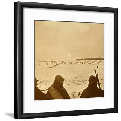 Assault waves, c1914-c1918-Unknown-Framed Photographic Print