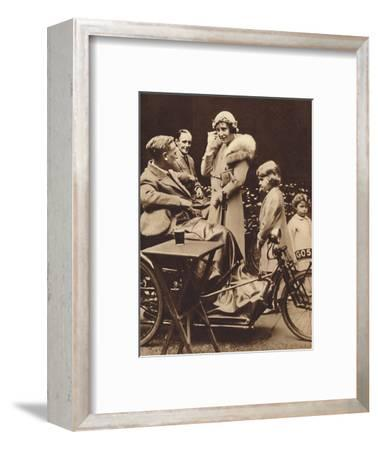 'With Disabled Ex-Servicemen', c1936, (1937)-Unknown-Framed Photographic Print