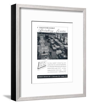 'A Craftsmanship Printing Service - Herbert Reiach Ltd', 1939-Unknown-Framed Photographic Print