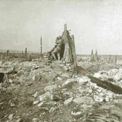 Look-out post, Fort Vaux, northern France, c1914-c1918-Unknown-Framed Photographic Print