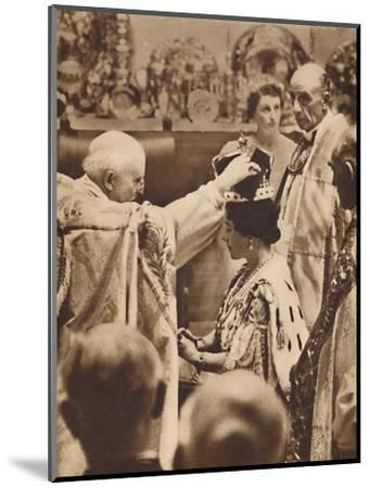 'The Queen is Crowned', May 12 1937-Unknown-Mounted Photographic Print