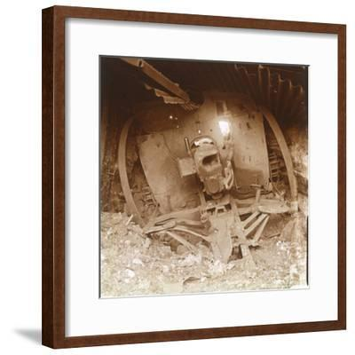 Heavy artillery, Somme, northern France, 1916-Unknown-Framed Photographic Print