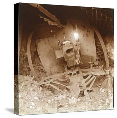 Heavy artillery, Somme, northern France, 1916-Unknown-Stretched Canvas Print