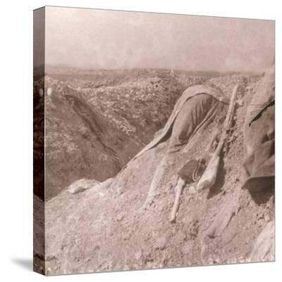German body, Somme, northern France, c1914-c1918-Unknown-Stretched Canvas Print