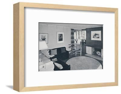 Sewall Smith. Living-room in the architect's own home at Niagara Falls, N.Y.-Unknown-Framed Photographic Print