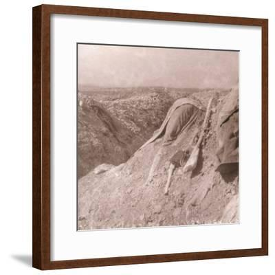 German body, Somme, northern France, c1914-c1918-Unknown-Framed Photographic Print