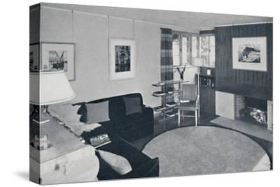Sewall Smith. Living-room in the architect's own home at Niagara Falls, N.Y.-Unknown-Stretched Canvas Print