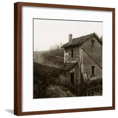 Wooden crosses, Tavannes Tunnel, Verdun, northern France, c1914-c1918-Unknown-Framed Photographic Print