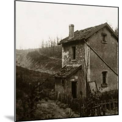 Wooden crosses, Tavannes Tunnel, Verdun, northern France, c1914-c1918-Unknown-Mounted Photographic Print