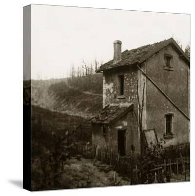 Wooden crosses, Tavannes Tunnel, Verdun, northern France, c1914-c1918-Unknown-Stretched Canvas Print