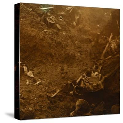 Captured enemy trench, Les Éparges, northern France, 1915-Unknown-Stretched Canvas Print