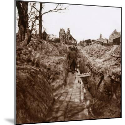 Trenches, Somme, northern France, c1914-c1918-Unknown-Mounted Photographic Print