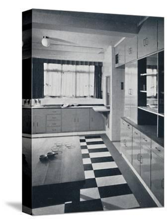 R. W. Symonds and Partner, L. & A.R.I.B.A. - Kitchen-Unknown-Stretched Canvas Print
