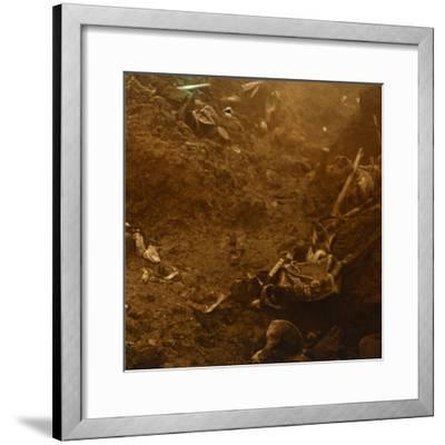 Captured enemy trench, Les Éparges, northern France, 1915-Unknown-Framed Photographic Print