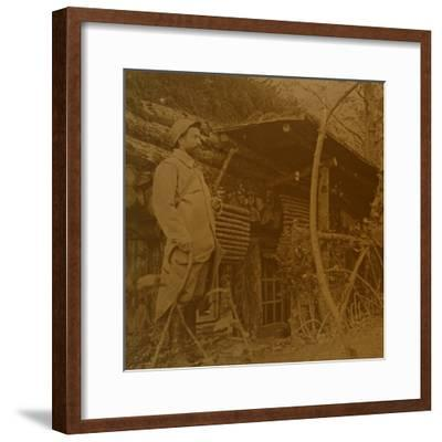 Bois d'Haumont, northern France, c1914-c1918-Unknown-Framed Photographic Print