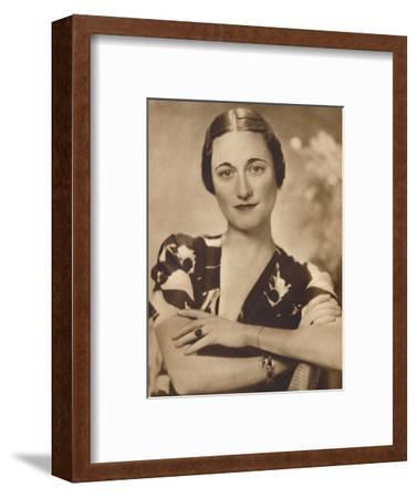 'Mrs Simpson: A Studio Portrait', 1937-Unknown-Framed Photographic Print