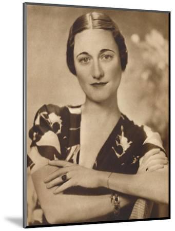 'Mrs Simpson: A Studio Portrait', 1937-Unknown-Mounted Photographic Print