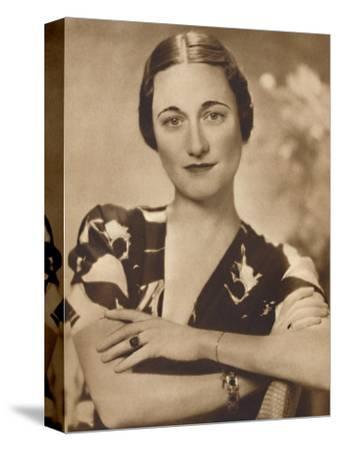 'Mrs Simpson: A Studio Portrait', 1937-Unknown-Stretched Canvas Print